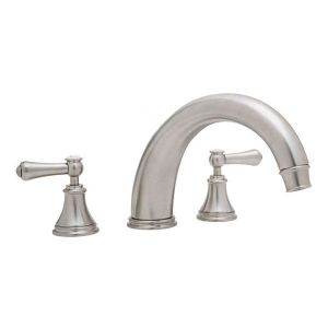 3658 Perrin & Rowe 3-hole Deck Mounted Bath Filler Tap With Lever Handles And 10 inch Spout